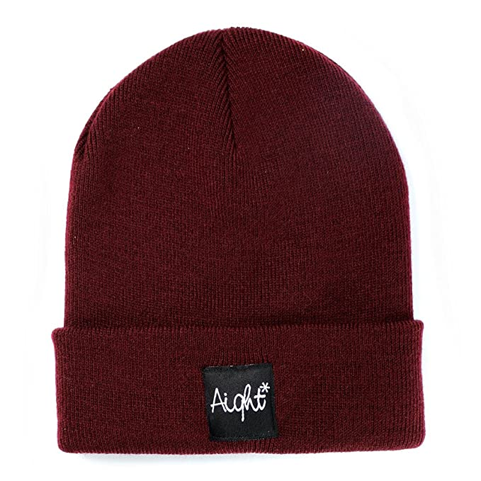 Aight Evolution Beanie Muetze OG Patch weinrot (maroon)  Amazon.de ... 8abc919def