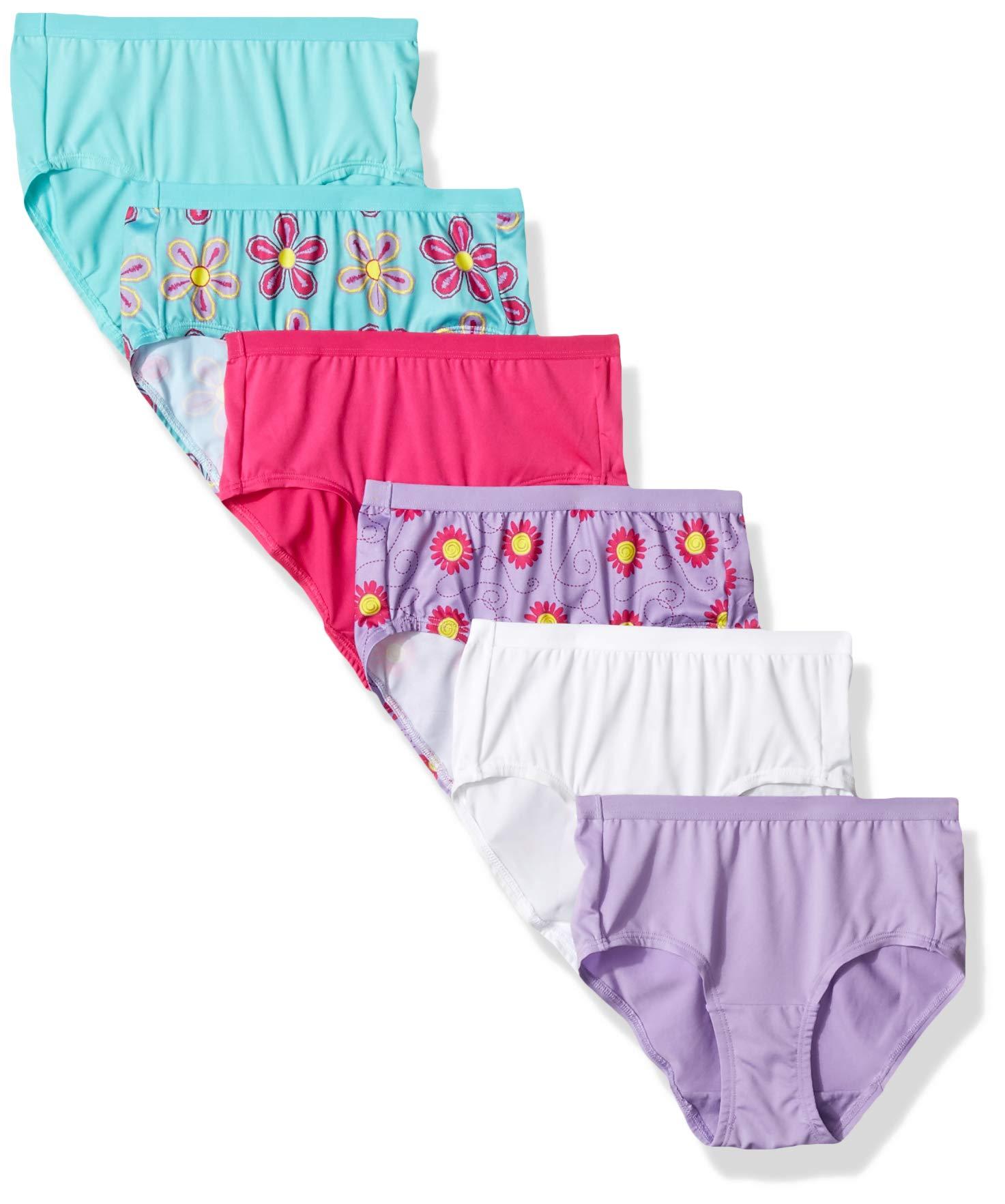 Fruit of the Loom Girls' Microfiber Underwear Multipack