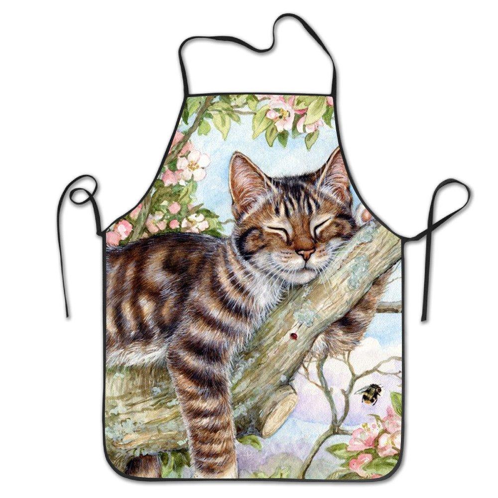 セクシーエプロンの女性レトロエプロン料理のガールズHave A Rest Cat Gardenかわいい動物キッチン女Apronsエプロンバルク大人子供   B072KMPK8T
