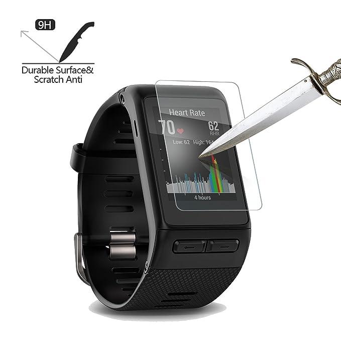 [Lot de 4] Verre Trempé Garmin Vivoactive HR, Akwox [0.3mm 2.5D haute définition 9H] Film de Protection dÉcran Anti Rayures Sans Bulles DAIR Ultra ...