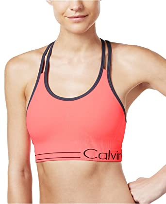 5d335ff3f9 Calvin Klein Performance Women s Low-Impact Strappy Sports Bra (Small
