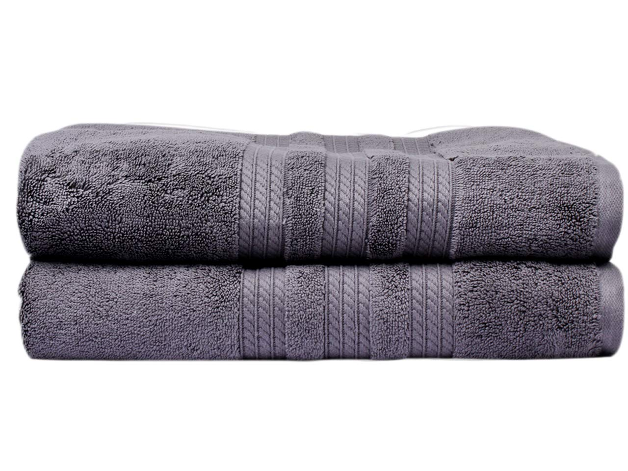Divine 100% Ring-spun Cotton 720 GSM Premium Luxury Turkish Bath Towels - Extra Large (30 x 58 Inch) - Set of 2, Super Soft, Ultra Absorbent, Machine Washable, Eco Friendly, Plush SPA/Hotel Quality