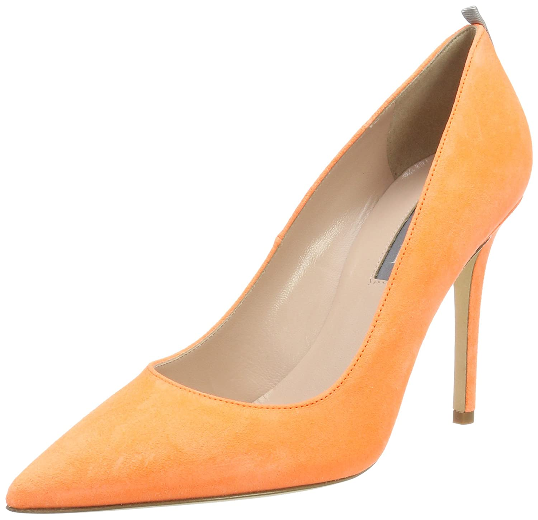 SJP by Sarah Jessica Parker Fawn, Zapatos de Tacón para Mujer 38 EU|Naranja (Creamsicle Orange Suede)