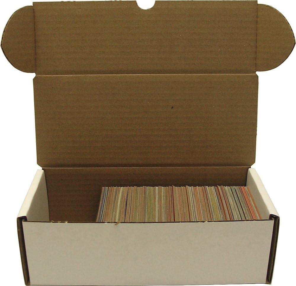 BCW Caja de almacenamiento de 500 unidades – Caja de almacenamiento de cartón corrugado – Tarjetas de béisbol, fútbol, baloncesto y hockey: Amazon.es: Juguetes y juegos