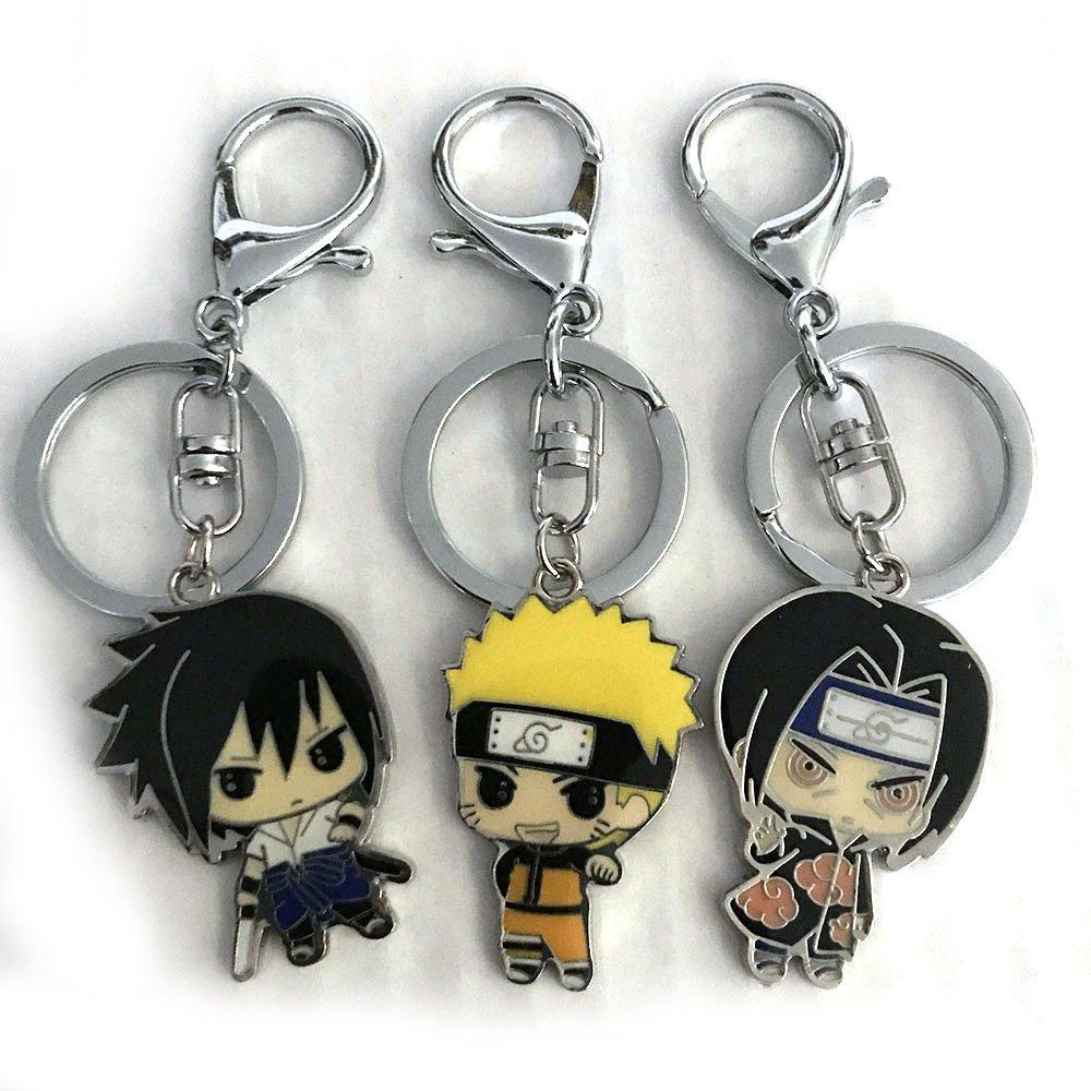 Amazon.com: Naruto Sasuke Itachi Anime Ninja Keychain Set ...