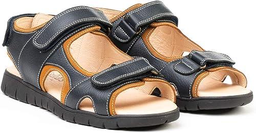 Sandalias de Piel Fabricados en España. Disponible Desde la Talla ...