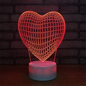 DC Hero Batman Logo 3D Lamp USB LED Night Light Table Lamp Kid Gift Crack paint