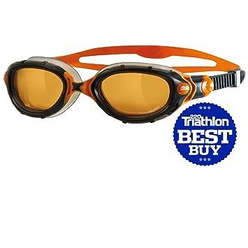 Zoggs Predator Flex Polarized Ultra Goggle - Copper / Black / Orange