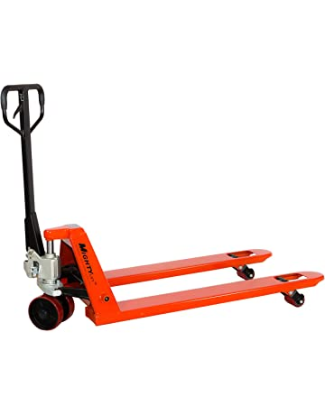 Mighty Lift ML55-2 Heavy Duty Pallet Jack Truck, Wheels: Polyurethane on Steel