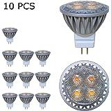BAOMING GU4 MR11 (35mm Durchmesser), 3Watt,AC/DC 12V LED Lampe 35W Gluhlampe, 250lm, Warmweiss 2700K LED Leuchtmittel, ersetzt 35 Watt Halogen, 30 Punktbeleuchtung 10er Pack