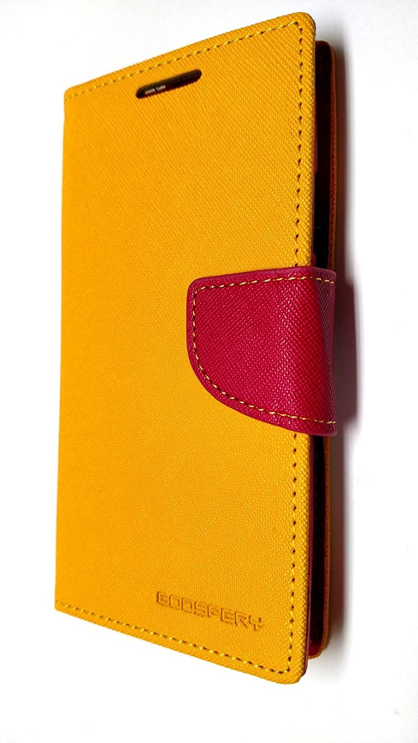 Goospery Fancy Diary Series Case For Galaxy S3 Iphone 7 Yellow Hotpink Hot Pink Fds3ywhp Cell Phones Accessories
