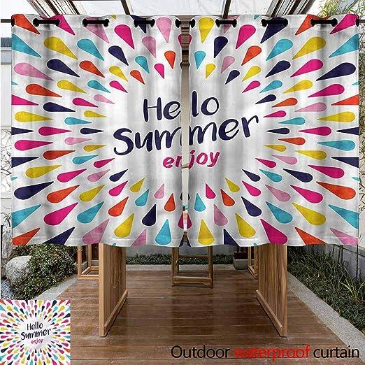 Sunnyhome Cortina de Puerta corredera con Texto en inglés Hello Baby Boys para Porche, Playa y Patio: Amazon.es: Jardín