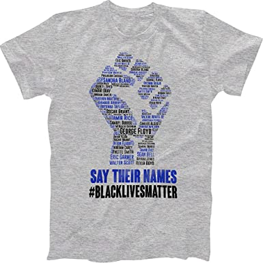 NEW Say Their Names Black Lives Can/'t Breathe George Floyd Support T-shirts