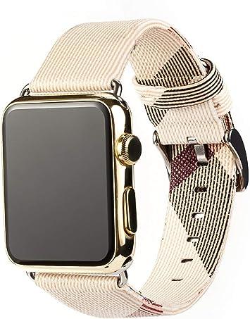 Correa para Apple Watch Series 4 40mm Cuero, Myada Correa Apple Watch Series 3 38mm Piel, Banda pare Apple Watch 44mm 42mm, pare iWatch Series 4/3/2/1 Edición Deportiva Mujer Hombre: Amazon.es: Electrónica