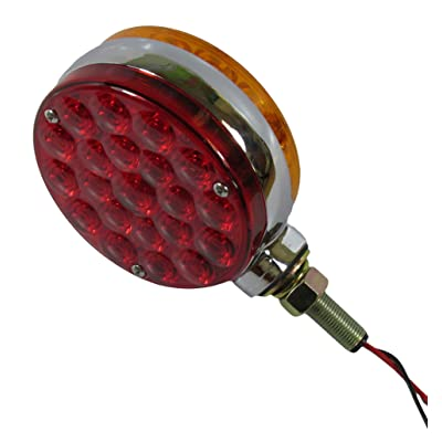 "Kaper II Fender/Turn Light 4"" round, 2-sided, amber/red; 21 diode each side, pedestal mount connection: 3 bare wire special: double-face lollipop tested voltage: 12.8 Volts.: Automotive"
