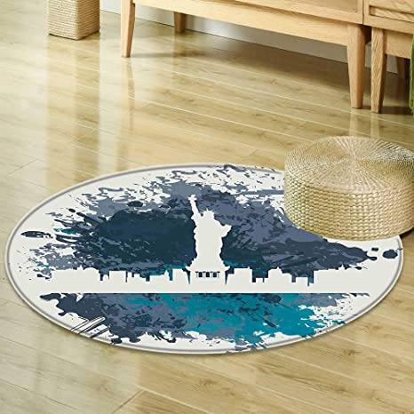 Mikihome Dining Room Home Bedroom Carpet Apartment Decor USA New York City Statue Of Liberty Illustration