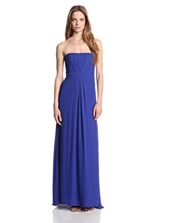 BCBGMAXAZRIA Women's Whitley Strapless Evening Gown, Royal Blue, 4