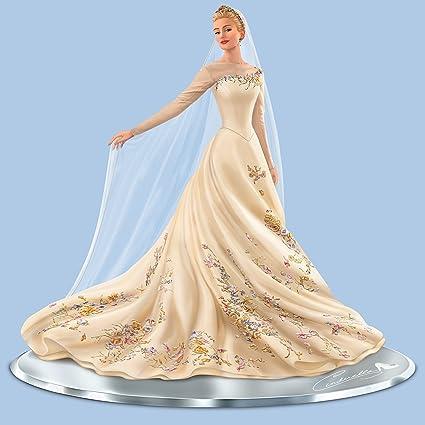 Amazon.com: Disney Cinderella Wedding Gown Figurine Handcrafted with ...
