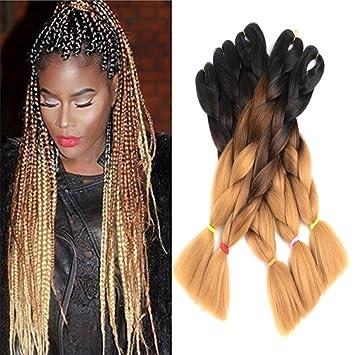 Amazon Com Ombre Jumbo Braid Hair Extensions 24 5pcs Lot 100g Pc