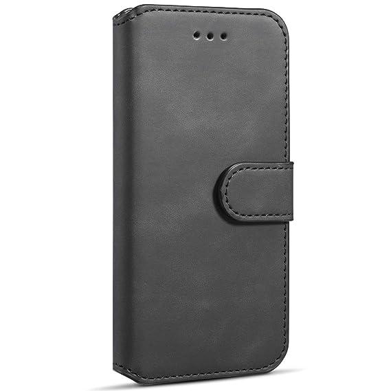 5c162a7c346ed Handyhülle Schutzhülle Leder Bookstyle Flip Case mit Bargeld- Kartenfach  Brieftasche Lederhülle Klapphülle Wallet Tasche