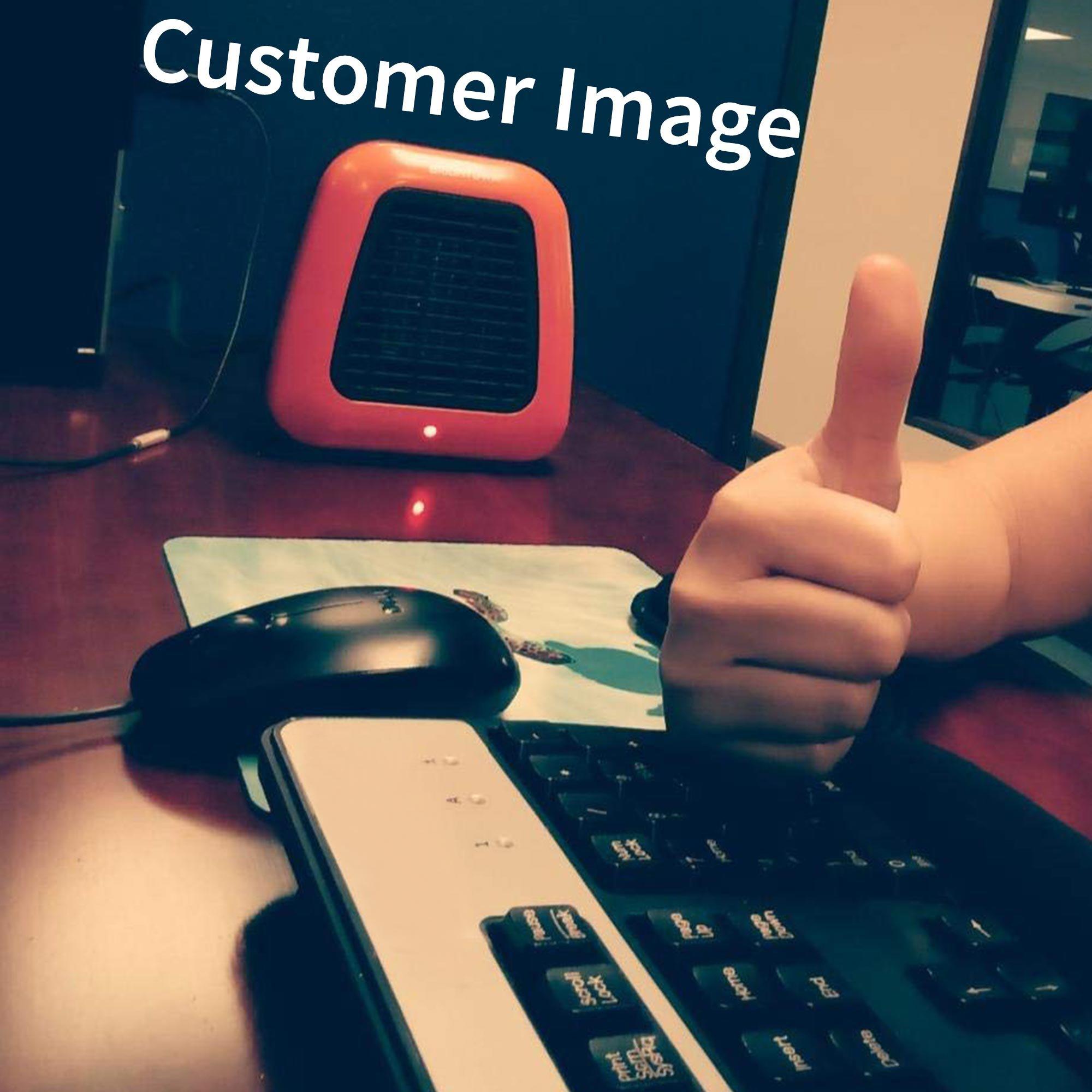 Personal Ceramic Portable-Mini Heater for Office Desktop Table Home Dorm, 400-Watt ETL Listed for Safe Use, Orange by Brightown (Image #7)