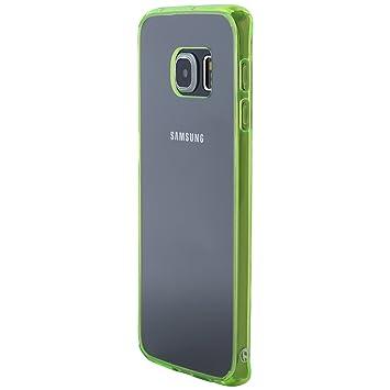Ultratec Funda Protectora híbrida para Smartphone/Carcasa con Borde de TPU de Color para Samsung S6 y S6 Edge, con Funda con Cremallera
