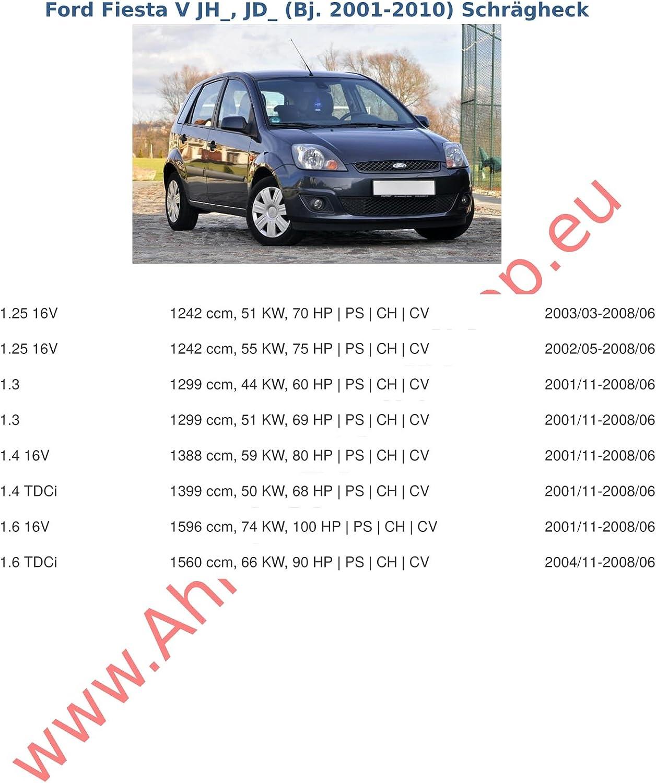 AHK Anh/ängerkupplung mit Elektrosatz 13 polig f/ür Ford Fiesta V 2002-2007 Schr/ägheck Anh/ängevorrichtung H/ängevorrichtung mit angeschraubtem Kugelkopf starr