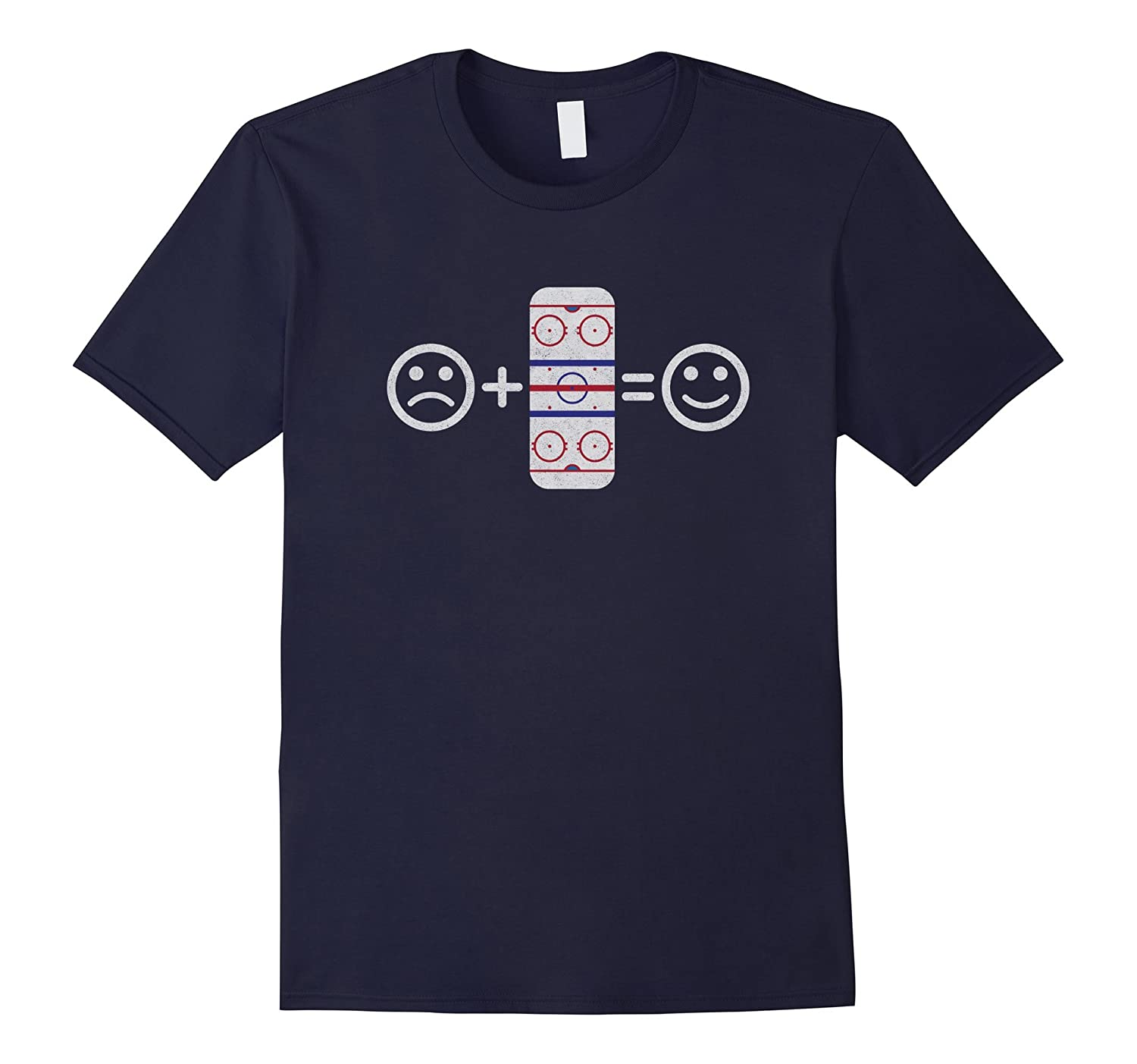 Sad Face Ice Hockey Player, Figure Skater, & Curling T-Shirt-TH