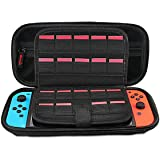 Leyeet Carrying Case for Nintendo Switch Portable Travel Case with 20 Game Cartridge Protective Hard Shell Pouch for…