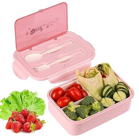 KATELUO Caja Bento Lunch Box Fiambrera Bento 1400 ml 3 ...
