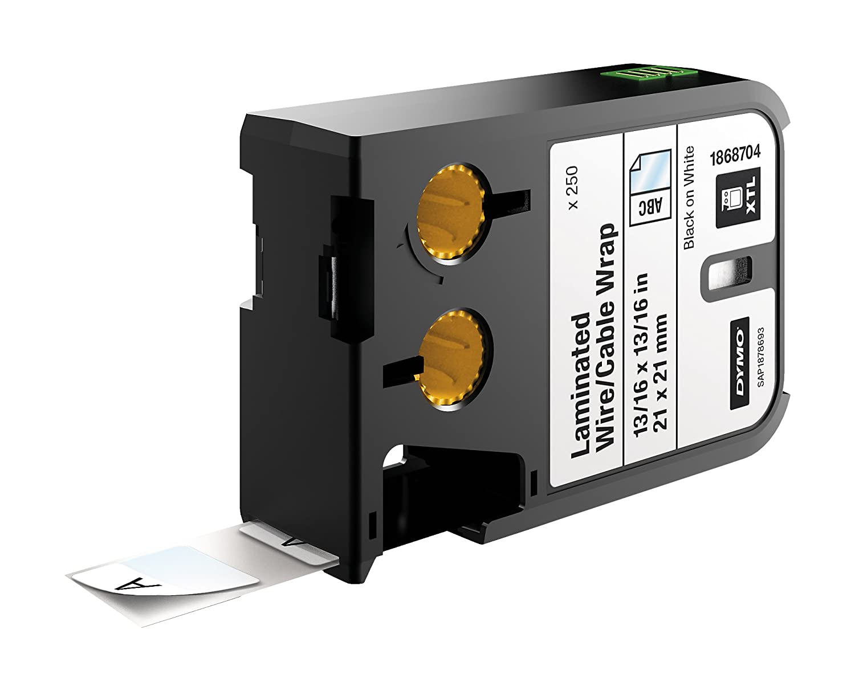 DYMO XTL laminado 38 cable/cable wrap, vinilo, negro sobre blanco, 38 laminado mm x 21 mm 0b9076
