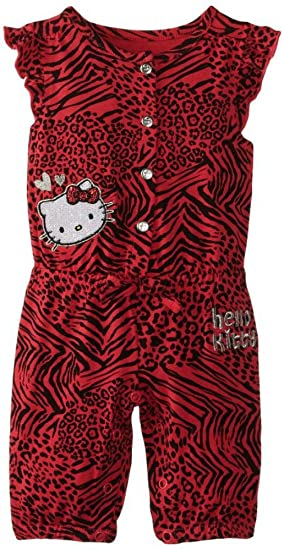 1706fb7f0 Amazon.com: SANRIO Hello Kitty Wild Thing Knit Jumpsuit for Baby ...