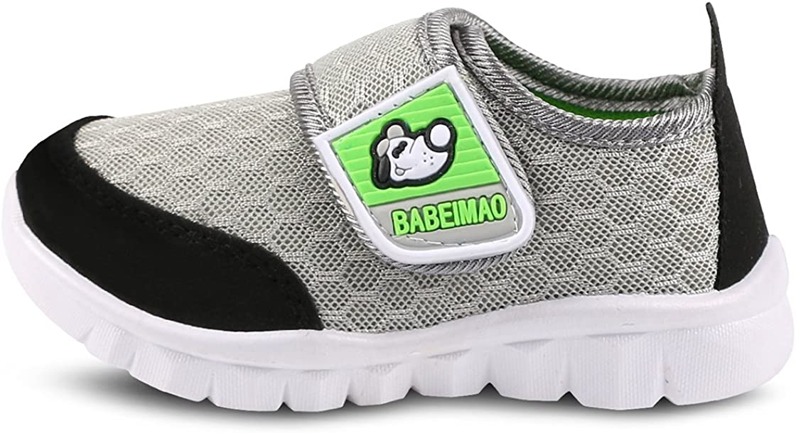 Femizee Toddler Boys Girls Lightweight Mesh Sneakers Kids Athletic Running Shoes,Gray 1728 CN23