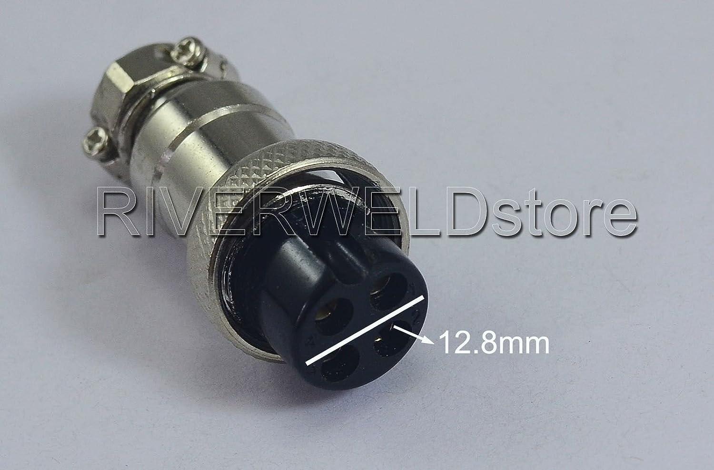 4 Pins Sockets Connector Aviation Plug Female 16-4P Fit TIG /& Plasma Torch 2PK