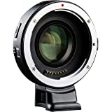 VILTROX EF-E II Auto Focus 0.71x Focal Reducer Speed Booster Lens Adapter with CDAF/PDAF Switch for Canon EF Lens to…