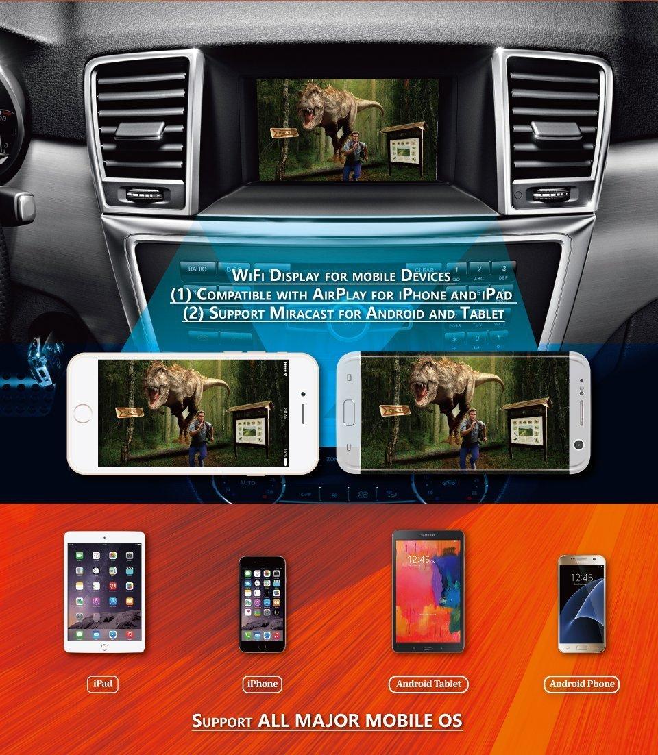 MiraScreen Coche Car WiFi Display Dongle Mirror Box 1080P Pantalla Mirroring Dongle Soporte Airplay Miracast DLNA Convierta Dispositivos Android/iOS a la ...