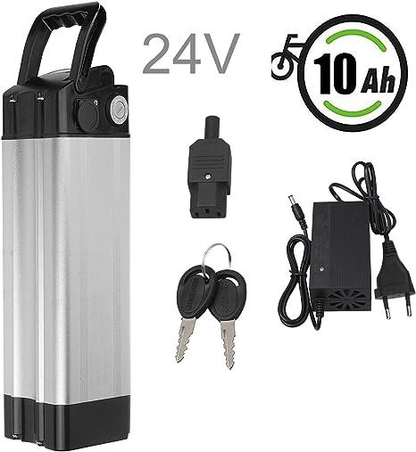 Vinteky 24V 10.4AH Ebike Battery, Batería para Bicicleta de Iones de Litio con Cargador y Soporte: Amazon.es: Deportes y aire libre