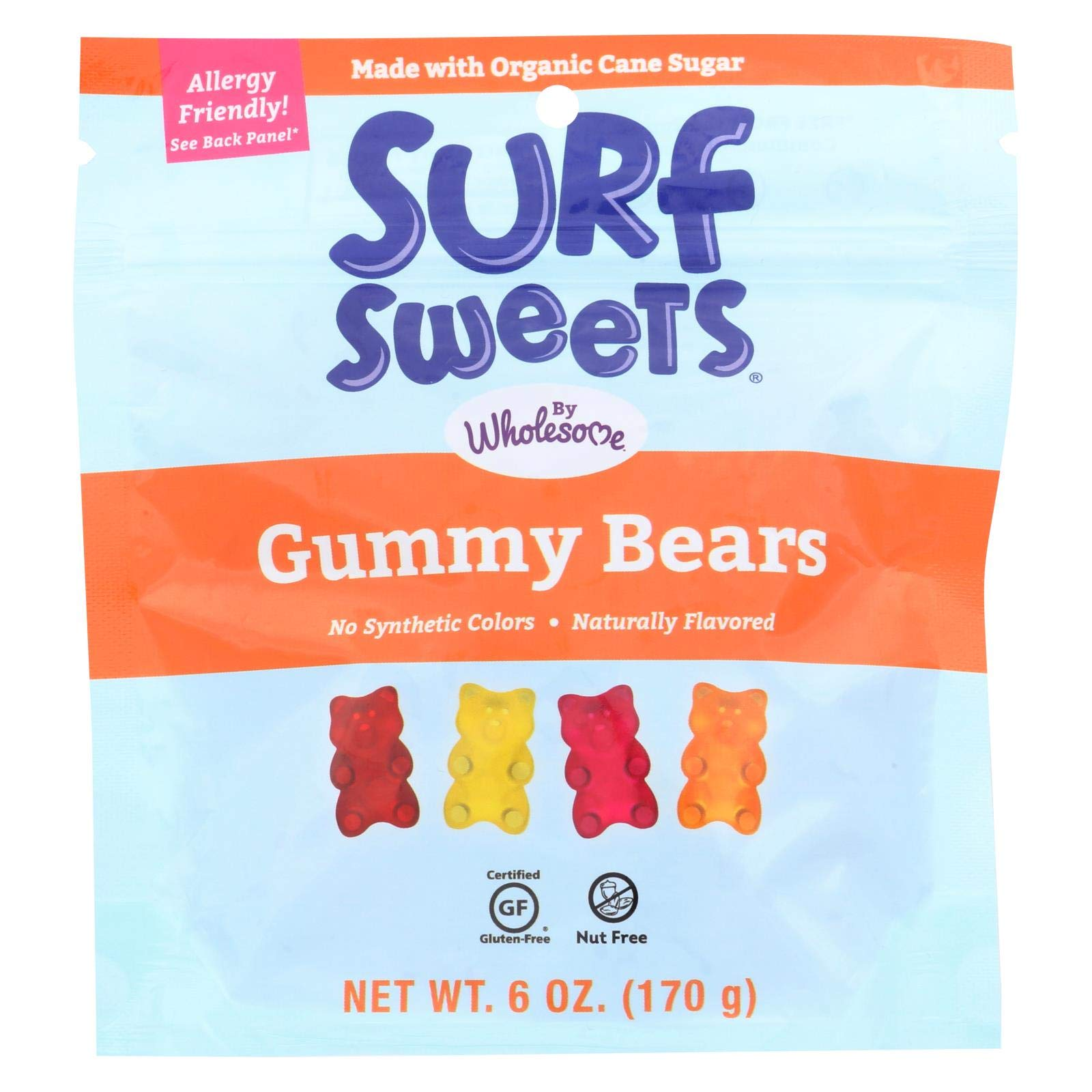 SURF SWEETS, GUMMY BEARS, OG3 - Pack of 6 by Surf Sweets