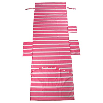 Lounge Chair Beach Towel Cover Microfiber Pool Lounge Chair Cover, Outdoor Patio Chairs and Recliners Cover, Chaise Lounge Chair Cover with Pockets, Sunbathing Fast Drying Terry Towels (Pink Stripe) : Garden & Outdoor