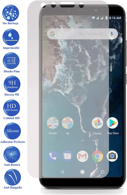 Todotumovil Protector de Pantalla Xiaomi MI A2 de Cristal Templado Vidrio 9H para movil