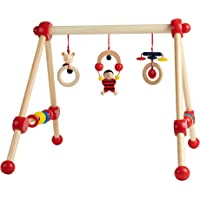 Bieco Game trapezoidal First Gym Wood -Spielbogen of Wood, with Figures rattles and Balls, from Birth, Multicolored…
