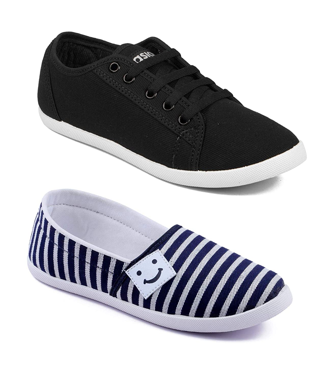 Canvas Casual Walking Shoes Running Slip-on Sneakers