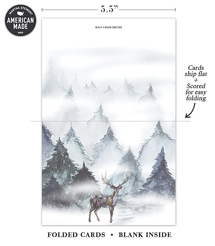 Great Value by Digibuddha Mixed Assortment Boxed Cards 24 Pack Seasonal Greeting Cards Envelopes Included 4 Assorted Winter Woodland Designs Lovely Reindeer Christmas Wishes for Family /& Friends