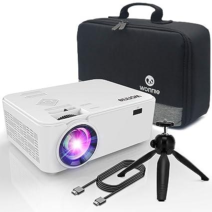 Amazon.com: WONNIE Proyector Bluetooth, Portátil LCD ...