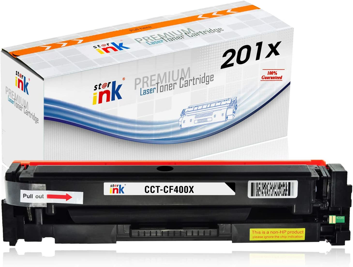 Starink CF400X Compatible Toner Cartridge Replacement for HP 201X 201A CF400A Black Work with Color Laserjet Pro MFP M277dw M252dw M252n M277c6 M277n M274n M277 M252 Printer, 1 Pack
