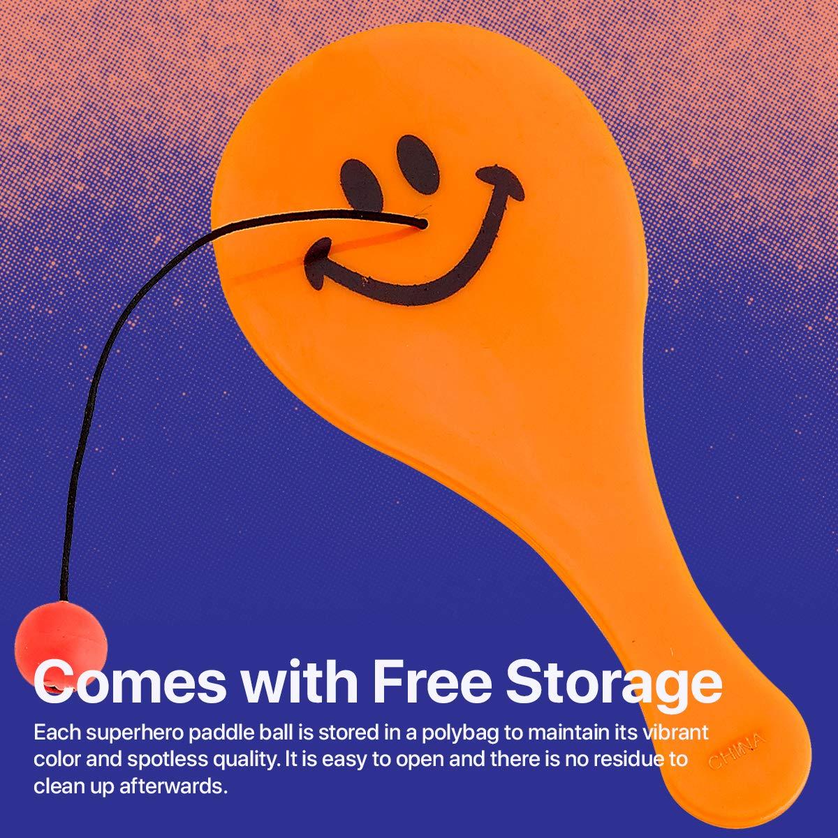 Amazon.com: Mini cara sonriente de plástico Paddle bolas ...