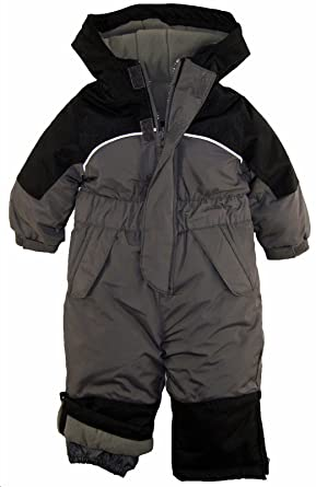 e80786d90 iXtreme Baby Boys Snowmobile One Piece Winter Snowsuit, Charcoal, 12 Months