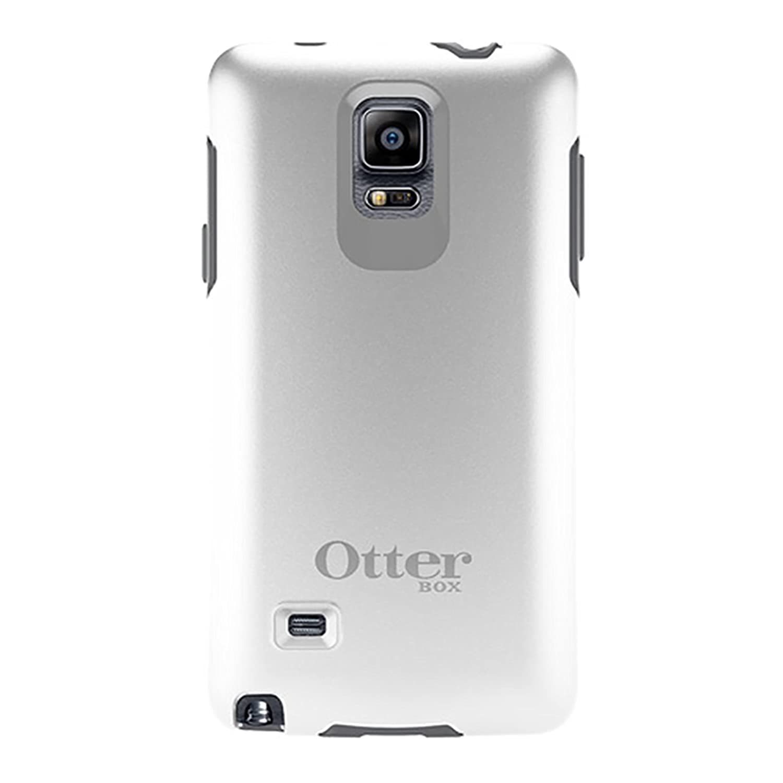 the best attitude 85c95 34c5f OtterBox Samsung Galaxy Note 4 Case Symmetry Series - Retail Packaging -  Glacier (White/Gunmetal Grey)