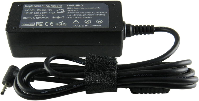Woli Cargador del Adaptador de la energía del Adaptador del Ordenador portátil de 12V 3.33A 40W para la PC Elegante 500T Xe300Tzc Xe300Tzci Xe700T1C Favorable 700T 2.5Mm * 0.7Mm de Samsung
