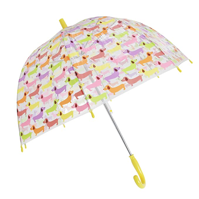 X-brella - Paraguas transparente con estampado animal para niños (Talla Única/Perro